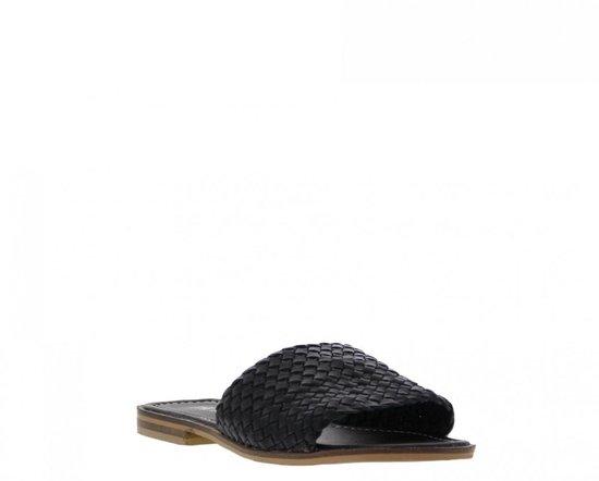 Tango | Lana 1-a black woven slipper - natural outsole | Maat: 38 joDpuUf5