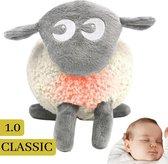 Ewan het Droomschaap Grijs Classic 1.0 Hartslag Baby Knuffel met Muziekdoosje Nachtlampje en White Noise