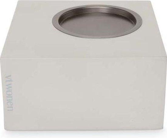 vtwonen kaarsenblok vierkant omkeerbaar grijs
