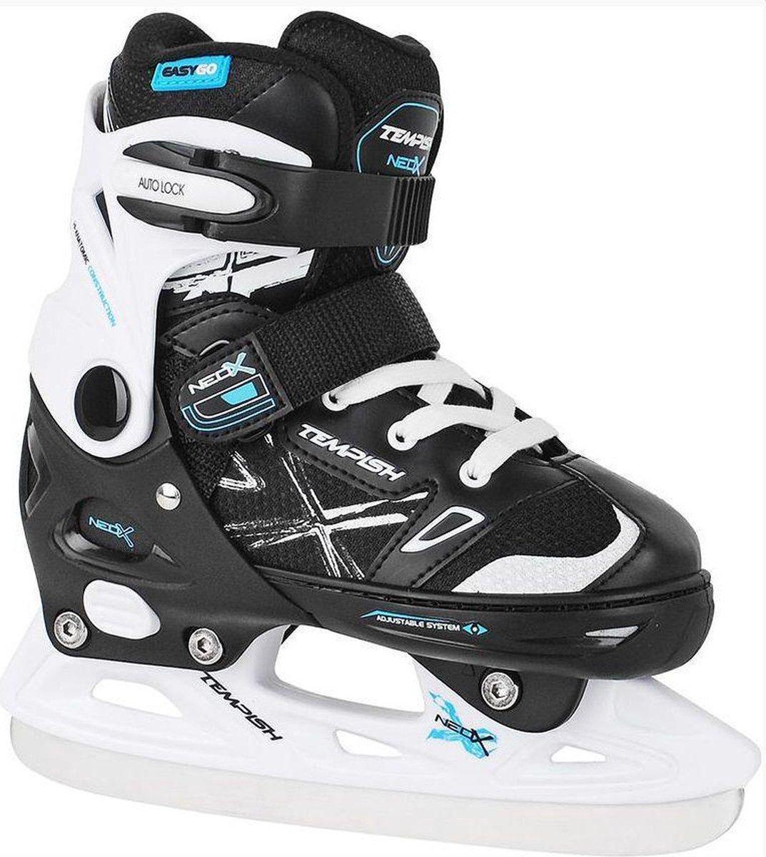 Tempish IJshockeyschaatsen verstelbaar NEO-X ICE Zwart/Wit 33-36