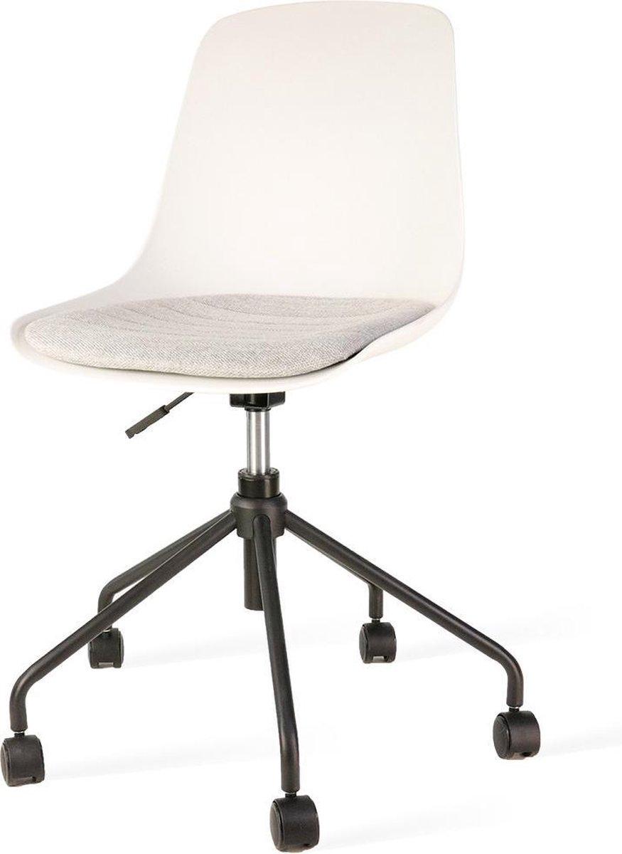 Nolon Nout bureaustoel zwart - Witte zitting en grijs zitkussen