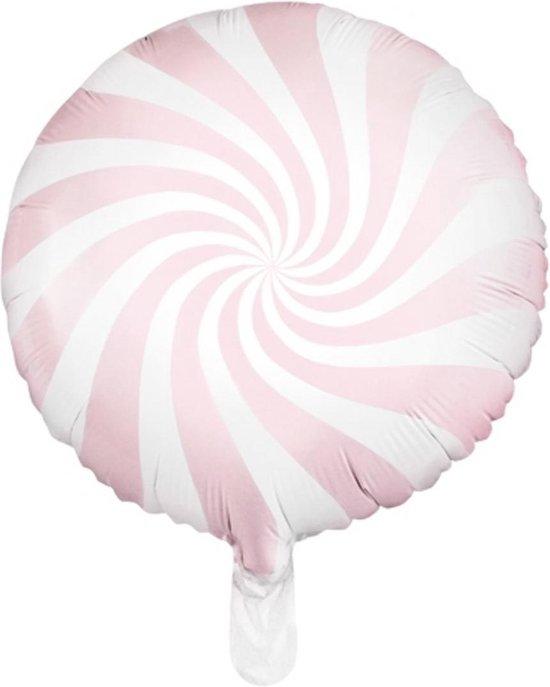 Helium Ballon Lichtroze Swirl 45cm leeg