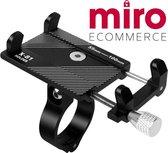 MIRO   Universele aluminium verstelbare telefoonhouder voor fiets - zwart