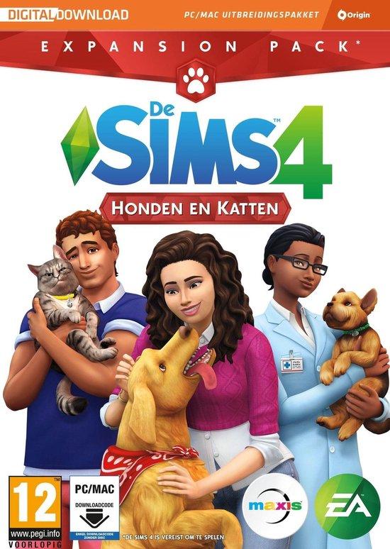 De Sims 4: Honden en Katten - Expansion Pack - Windows + MAC - Code in box - Electronic Arts