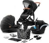 Kinderkraft Prime 3 in 1 Kinderwagen - Inclusief Autostoel - Black