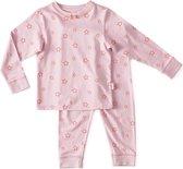 Little Label - 2-delige pyjama - roze, sterren - maat 122/128 - bio-katoen