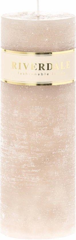 Riverdale Kaars Pillar beige 7x20cm