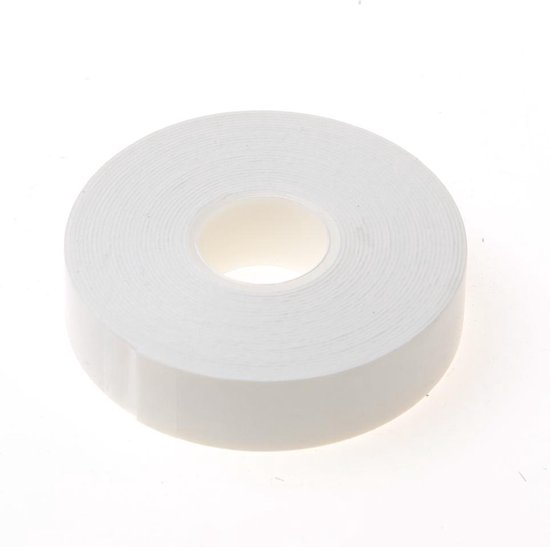 Stokvis tapes Dubbelzijdige foam tape wit 0.8mm x 19mm x 5 meter