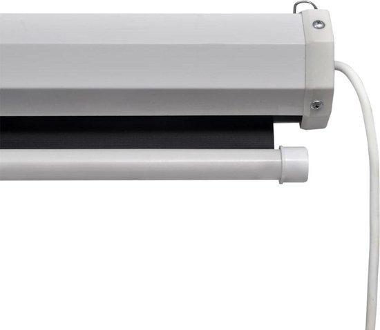 vidaXL Projectiescherm met afstandsbediening elektrisch 160x160 cm 1:1 - vidaXL