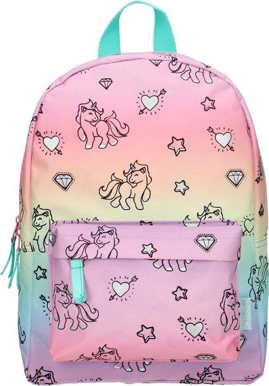 Afbeelding van Milky Kiss Rainbows & Unicorns Kinderrugzak 6 liter - Regenboog en eenhoorn print