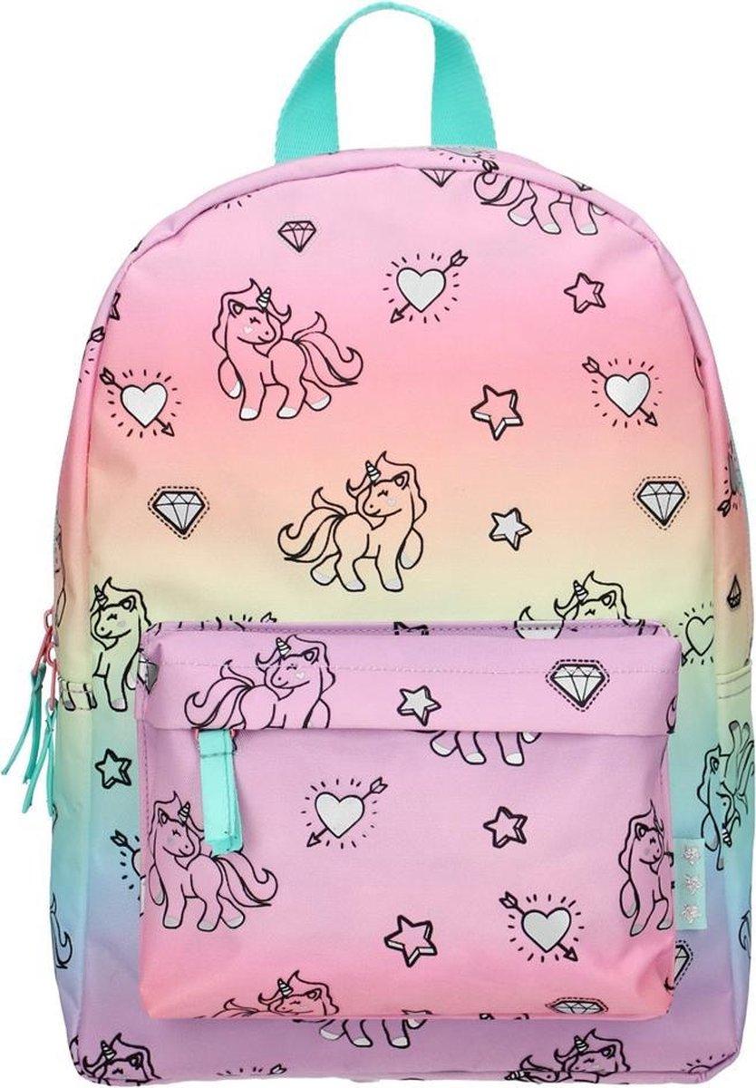 Milky Kiss Rainbows & Unicorns Kinderrugzak 6 liter - Regenboog en eenhoorn print