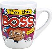 Cartoon mok I'm the boss
