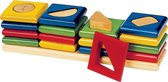 Sorteerbord: 4 TORENS kleuren en vormen sorteren 25x6x6.5cm,