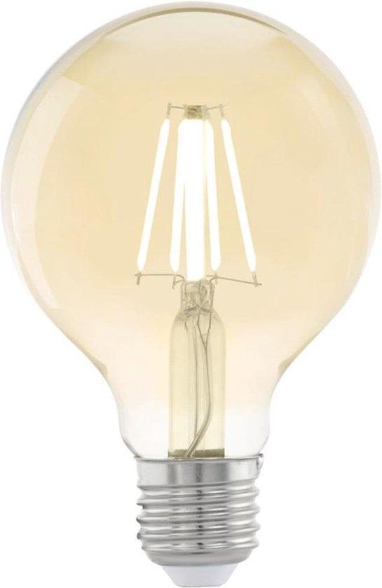 EGLO led-lamp vintage look E27 G80 amberkleurig 11556