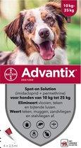 Bayer advantix spot on 250/1250 10-25 kg 4 pip