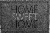 Deurmat grijs Home sweet home - 40 x 60 cm