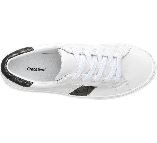 Graceland Dames Witte sneaker metallic - Maat 40 kLNqAN9T