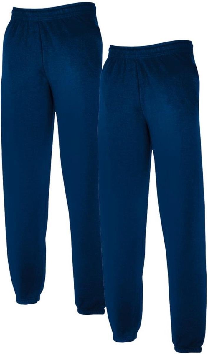 2 Pack Fruit of the Loom Heren Joggingbroek Marineblauw Maat M