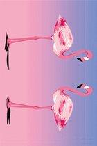 Diamond Painting Flamingo – 15 cm x 10 cm – Zelf Schilderijen Maken – Voor Jong & Oud – Kleuren