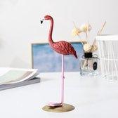Flamingo Decoratie Beeld - Woondecoratie - Woonkamer - Roze - Goud - Type 3