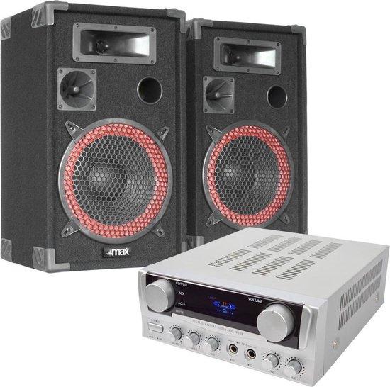 MAX DJ PA Set Bassalt 500W Complete Set Karaoke