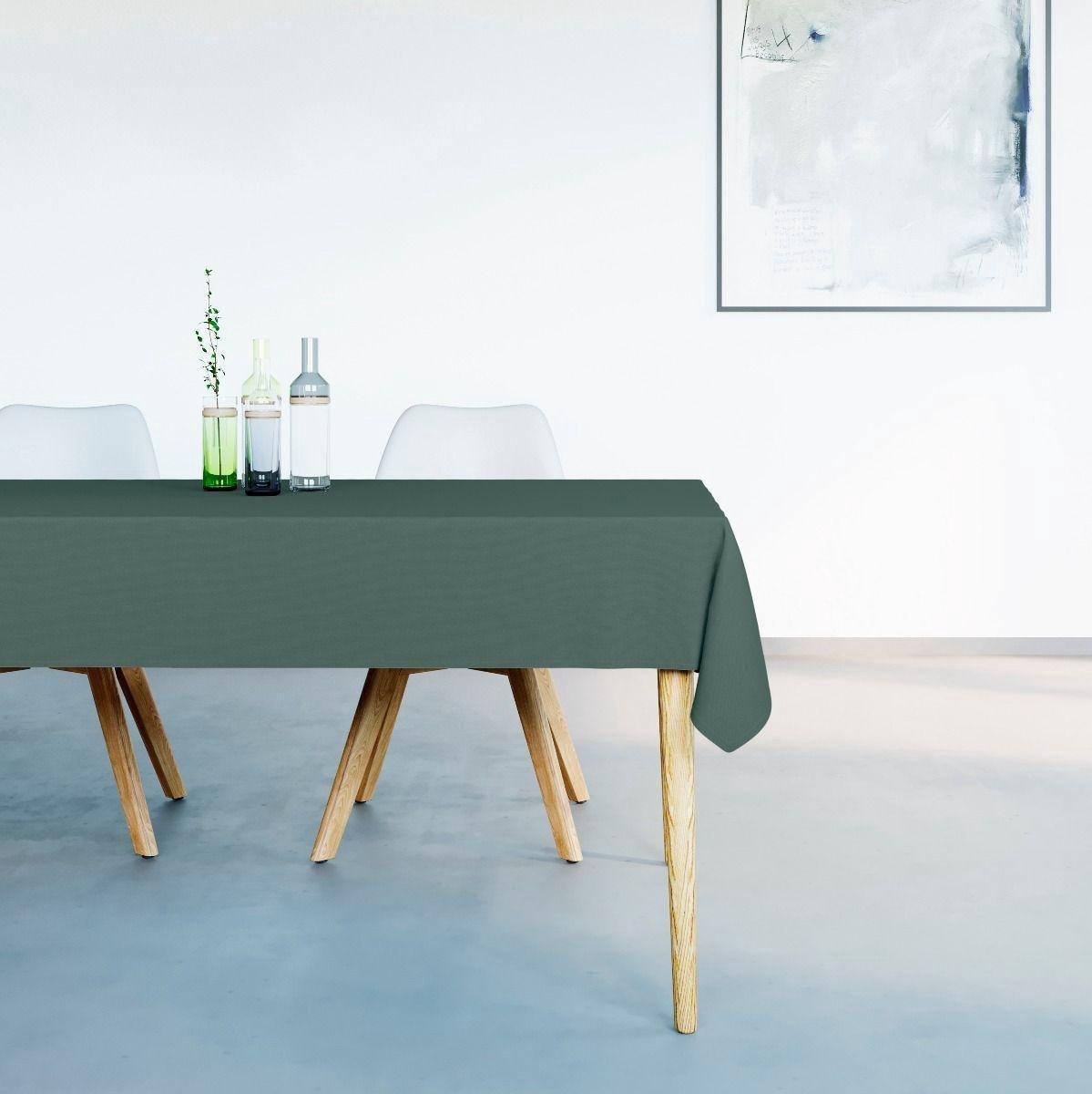Mistral Home waterafstotend Tafelkleed - 150x250 cm - Donker Groen