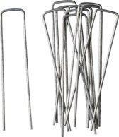 10x Gronddoekpennen/onkruiddoekpennen 14 cm - Anti-worteldoeken/onkruiddoeken/gronddoeken vastzetten/bevestigen