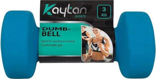 Dumbbell set van 2 x 3KG - Dumbbells gewichten - Halterset - Gewichten en Halters - Blauw