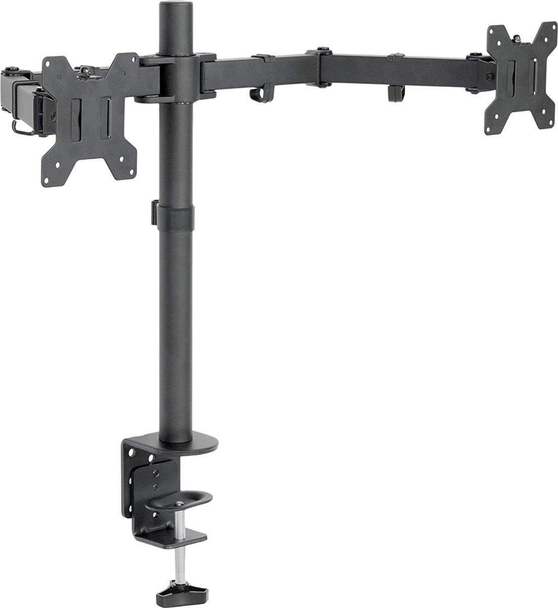 Dubbele Monitor arm - Monitor Beugel voor 13-32 Inch - draaibaar kantelbaar zwenkbaar - zwart kopen