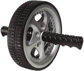 Ab Roller | Core Trainer | Core Wheel | Buikspiertrainer met stevig wiel | Buikspier Wiel | Ø 17,5 cm | Zwart