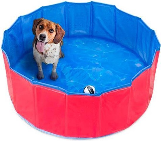 Opvouwbare hondenzwembad 80x30 cm - Perfect voor huisdieren, puppy's, katten of als kinderbadje, badkuip of ballenbad