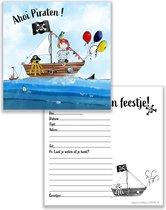 uitnodiging kinderfeestje piraat - kinderfeest - piraten - piratenfeest - 10st