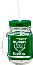 Stranger Things Hawkins High School jar