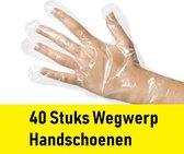 Wegwerp Handschoenen 40 stuks Plastic Hygiëne Budget