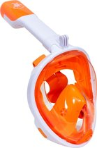 Sea Turtle Full Face Mask - Snorkelmasker - L/XL - Wit/Oranje