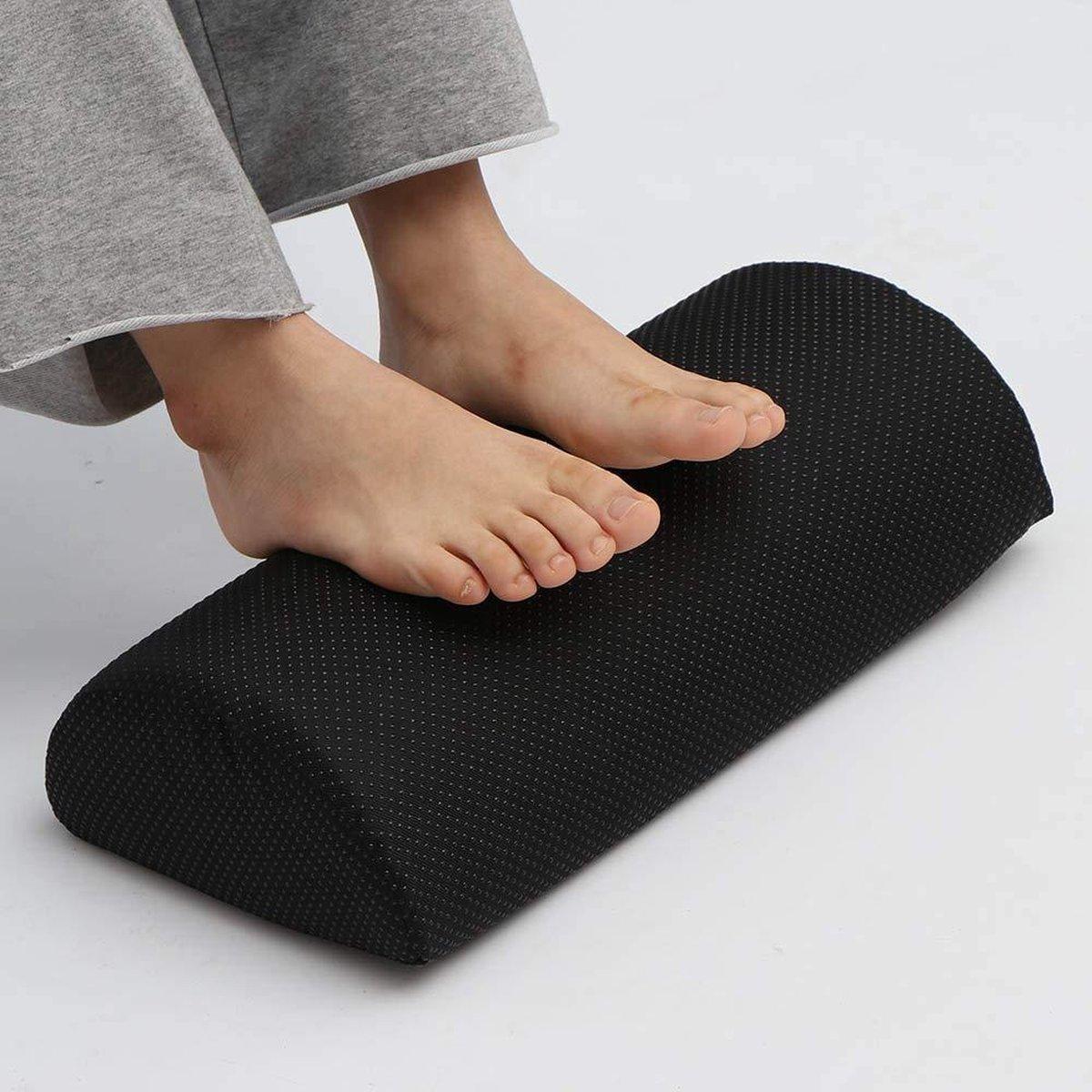 Nava® Voetenbank | Ergonomische voetsteunkussen voor verbeterde zithouding achter bureau | Verstelbare voetsteun onder bureau | Voeten kussen ondersteunen schuimkussen halve cilinder voor kantoor thuis
