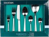 Blokker Toronto Bestekset - 38-delig - 6 persoons - Zilverkleurig - Mat