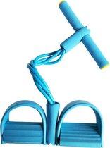 Elastische Buikspiertrainer - Unisex - Blauw - Veel Verschillende Oefenmogelijkheden