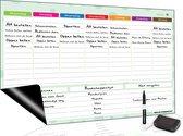 Magnetisch Weekplanner whiteboard (20) - A3 - Planbord - Familieplanner  - Gezinsplanner - To Do Planner