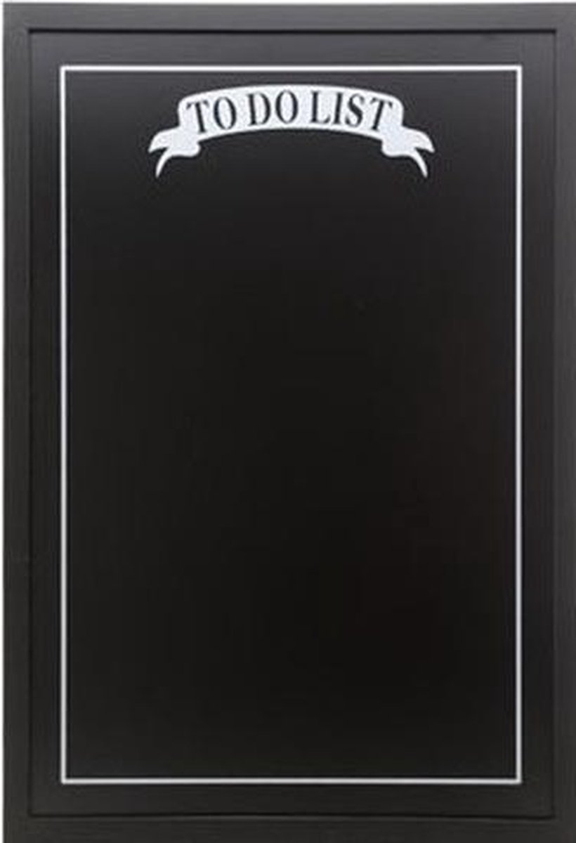 Merkloos / Sans marque Zwart krijtbord/memobord To Do List 40 x 60 cm incl krijtjes Takenlijst bord Boodschappenlijstje Woondecoraties Wanddecoratie/muurdecoratie online kopen