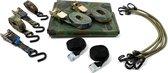 JUMBO vis/ survival set, dekzeil, snelbinders, spanbanden