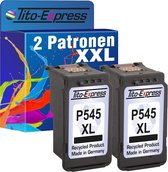 Tito-Express PlatinumSerie cartridges 2x Canon PG-545 XL Zwart alternatief voor Canon PG-545 XL Zwart