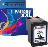 PlatinumSerie® 1 x cartridge alternatief voor HP 304 XL black