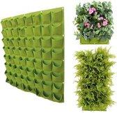Verticale tuin met 64 vakken - 100cm x 100cm - hangende tuin - groen - groene wand - groene muur - verticale moestuin zakken - plantenhanger balkon - plantenbak - plantenzak 1x1 meter, groen , merk Be