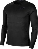 Nike Breathe Run Ls Sporttrui Heren - Black/Black/Reflective Silv - Maat M