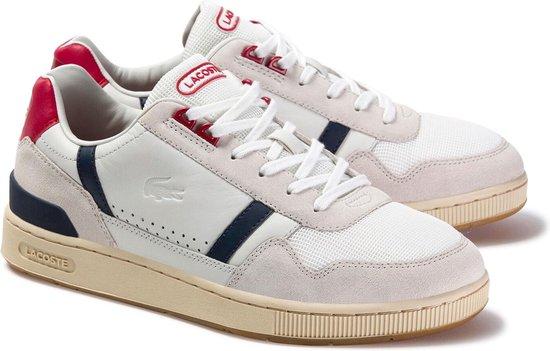 Lacoste Sneakers - Maat 42 - Mannen - wit/navy/rood/lichtgrijs