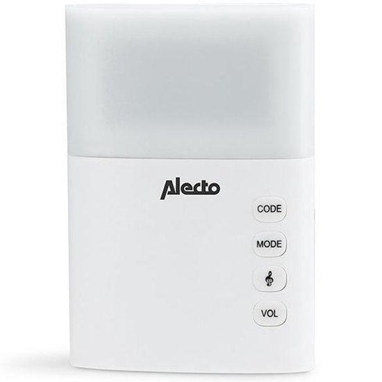 Alecto ADB-19 Draadloze deurbel met fel flitslicht en 36 melodieën - Alecto