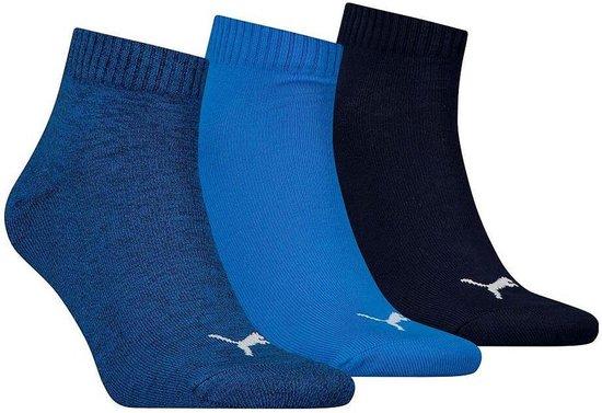 Puma Sportsokken - Maat 39-42 - Unisex - navy/blauw/wit