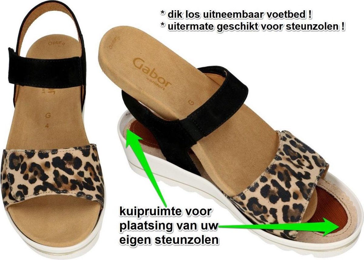 Gabor Dames dierprint sandalen maat 39