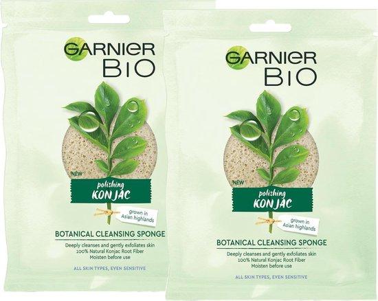 Garnier Skinactive Face Konjac Exfoliërende Reinigingsspons - 2 stuks - multipack